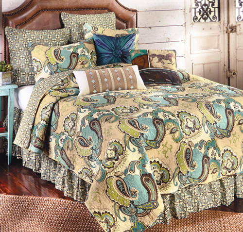 Desert Paisley Quilt Bedding Collection