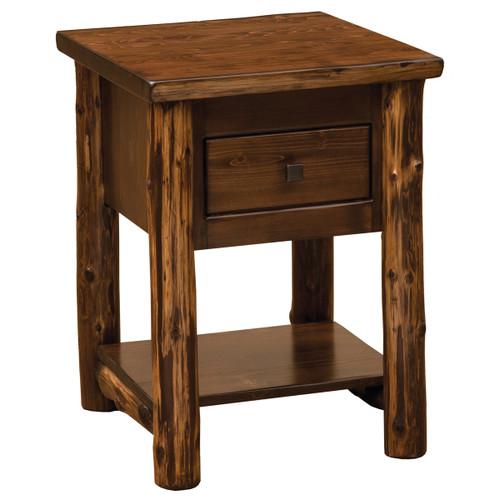 Modern Cedar One Drawer Nightstand With Shelf