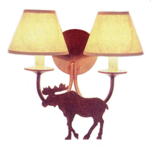 Moose Double Wall Sconce - Rust