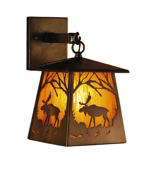 Moose Lantern Wall Sconce