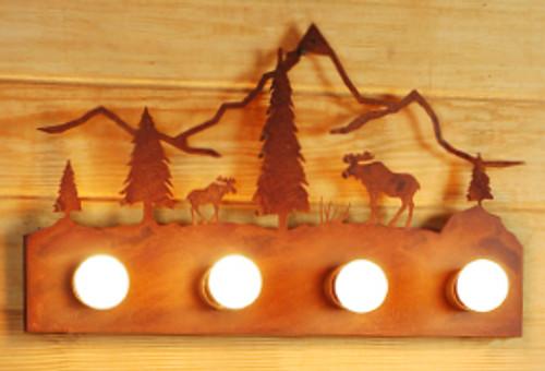 Moose & Mountain Vanity - Rust