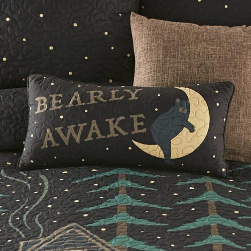 Moonlight Lodge Barely Awake Pillow
