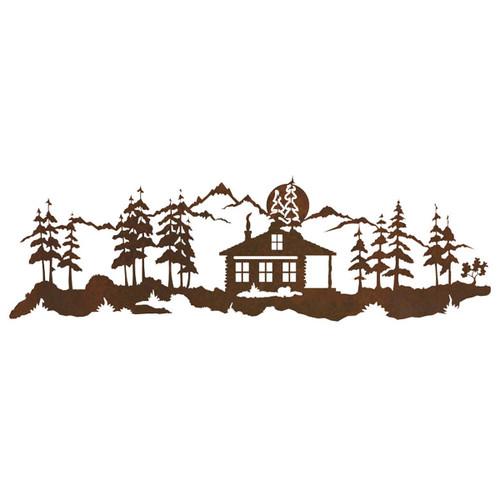 Moonlight Mountain Cabin Wall Art
