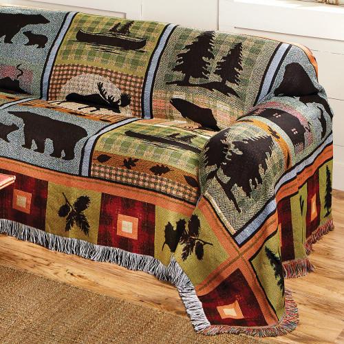 Moose & Bear Lake Tapestry Chair Cover