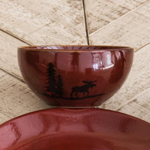 Moose Lodge Stoneware Bowl