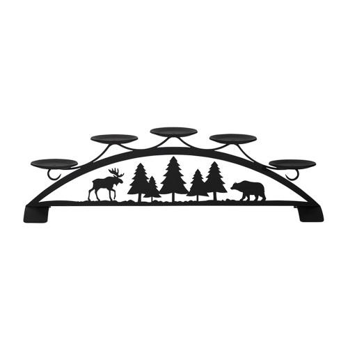 Moose & Bear Table Top Pillar Candle Holder