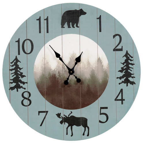 Moose & Bear Wall Clock - OVERSTOCK