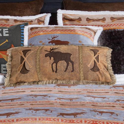River Ramble Moose & Canoe Pillow