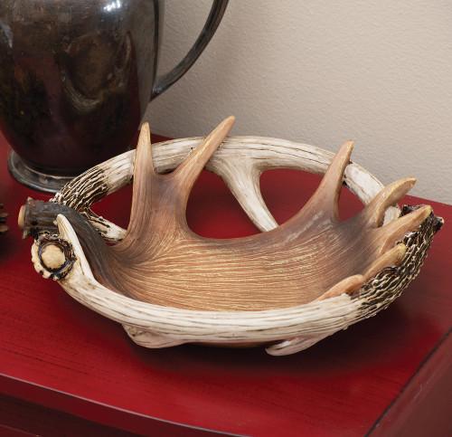 Moose & Deer Antler Bowl / Dish