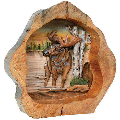 Moose Carved Wood Wall Hanging - OVERSTOCK