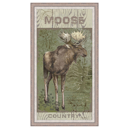 Moose Country Framed Canvas