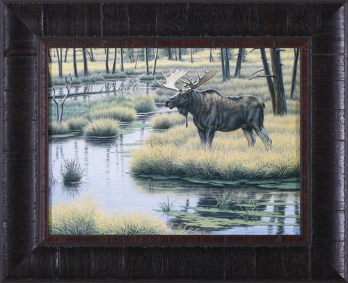 Moose Country Glassless Framed Print