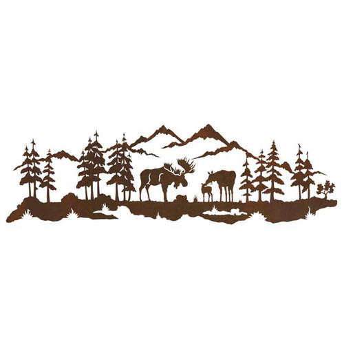 Moose Family Wall Art