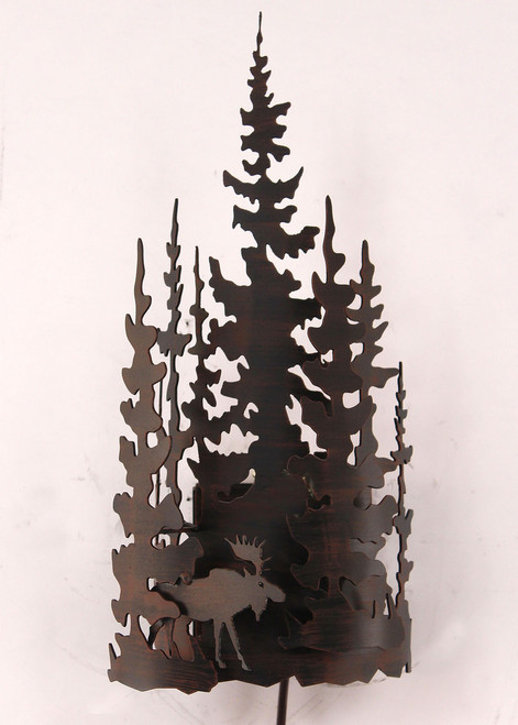 Moose Forest Metal Wall Lamp
