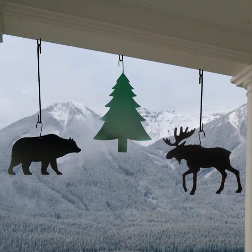 Moose Hanging Silhouette