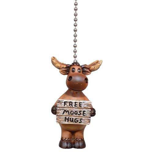 Moose Hugs Ceiling Fan Pull