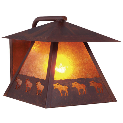 Moose March Wet Location Sconce - Rust Finish