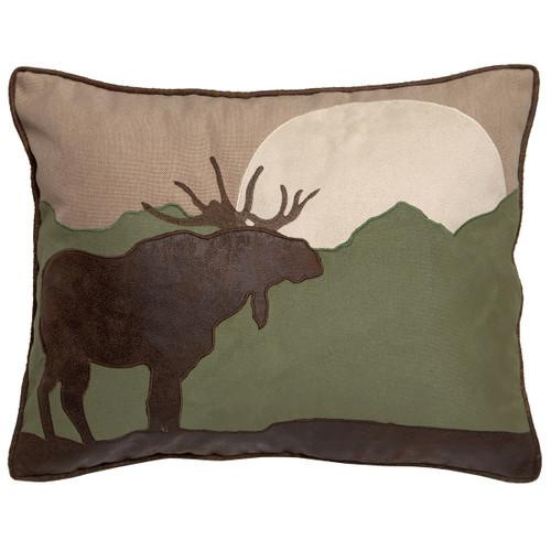 Moose Moonrise Pillow