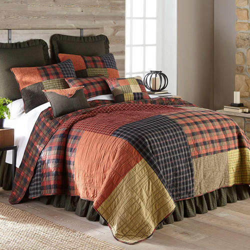 Lodge Plaid Quilt Bedding Collection