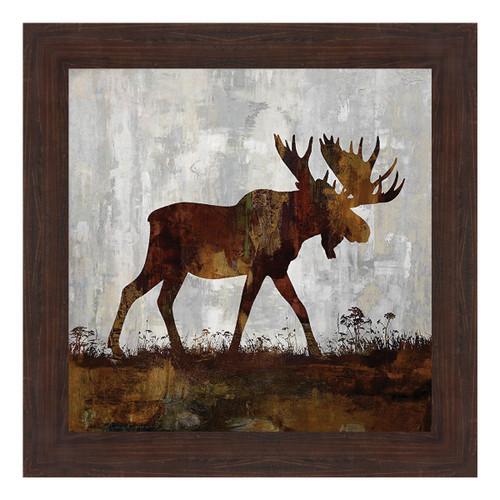 Moose Silhouette Framed Print