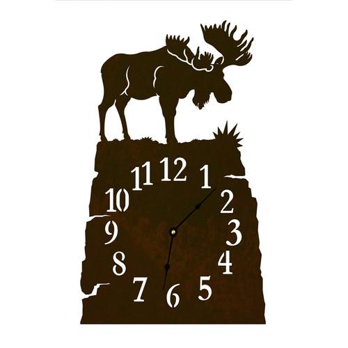 Moose Table Clock