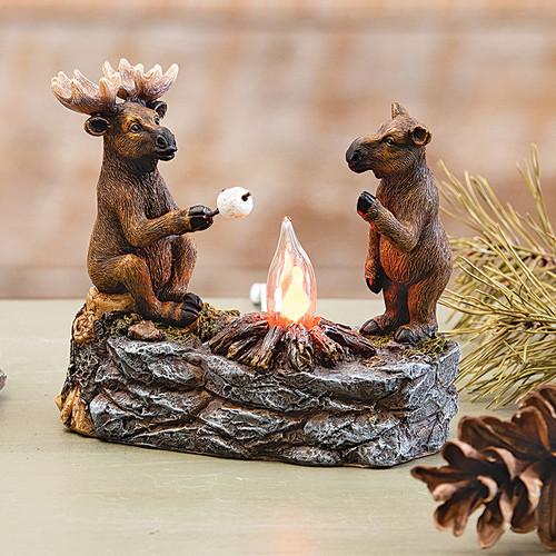 Moose Toasting Marshmallows Nightlight