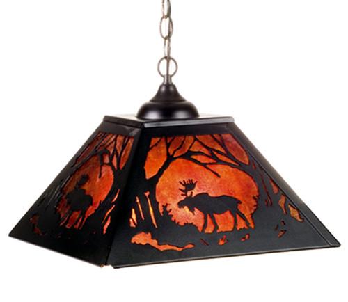 Moose Pendant Light - 22.5 Inch Blk/AM
