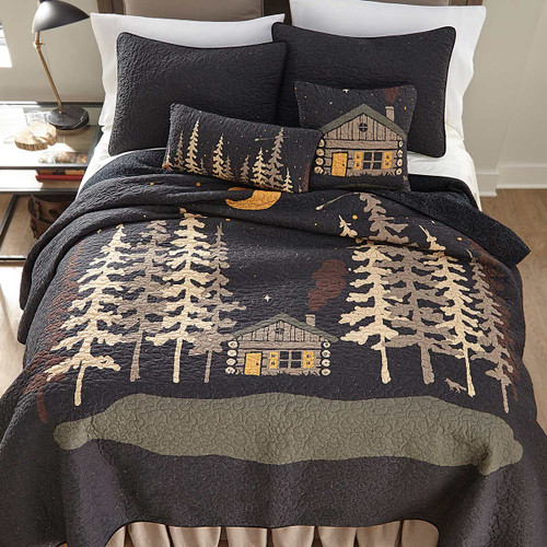 Midnight Cabin Quilt Bedding Collection
