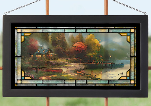 Mosaic Autumn Stained Glass Wall Art