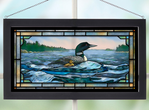 Mosaic Duckling Stained Glass Wall Art