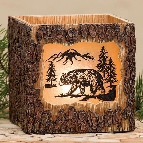 Mountain Bear Bark Nightlight