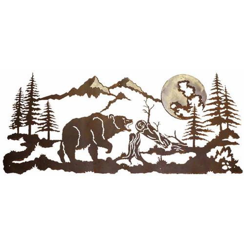 Mountain Bear Burnished Wall Art