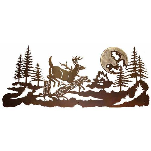 Mountain Deer Burnished Wall Art