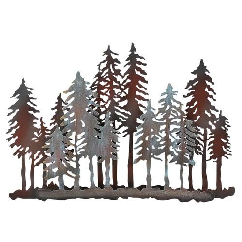 Mountain Forest Metal Wall Art