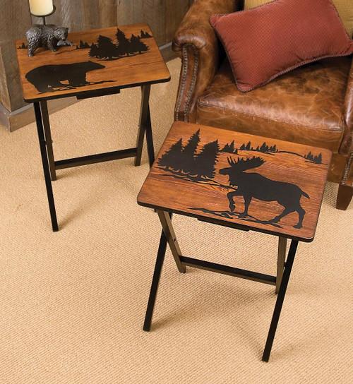 Mountain Getaway Folding Side Tables (Set of 2)