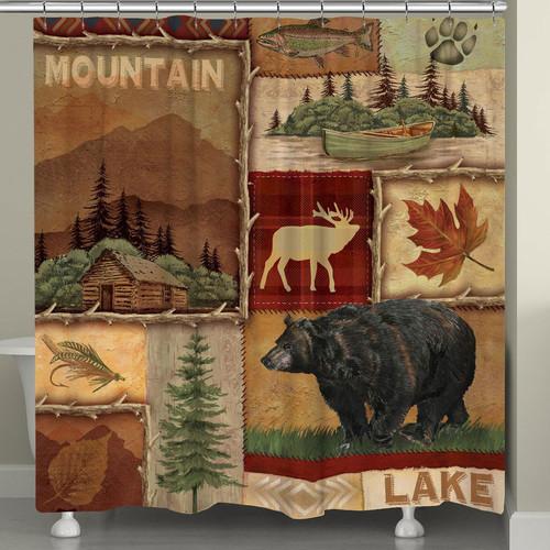 Highland Hills Lodge Shower Curtain