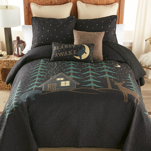 Moonlight Cabin Quilt Bedding Collection