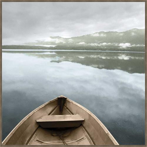 Mountain Lake Canoe Framed Art