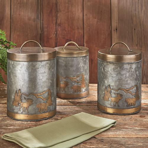 Mountain Moose & Bear Canisters - Set of 3