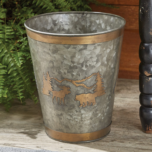 Mountain Moose & Bear Waste Basket