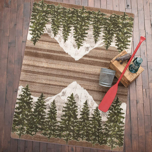 Mountain Pine Tan Rug - 2 x 8