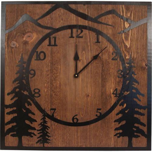 Mountain Scene Clock