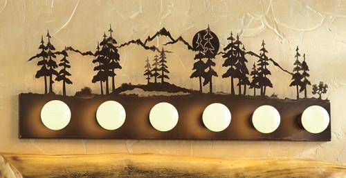 Mountain Scene Vanity Light - 6-Light