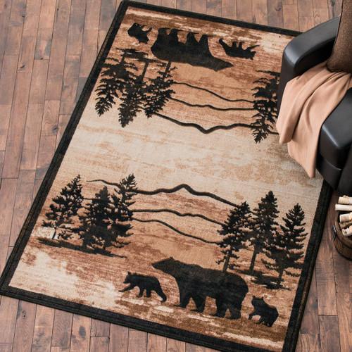 Mountain Shadow Bear Rug - 4 x 5