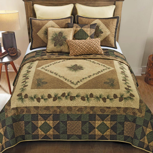 Pinecone Grove Quilt Bedding Collection