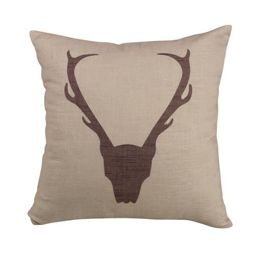 Mountain View Antler Pillow