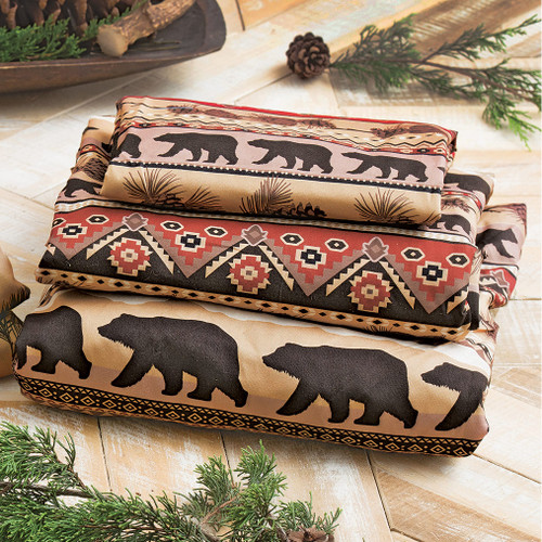 Mountainside Bear Sheet Set - King
