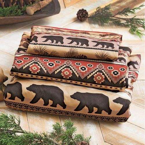 Mountainside Bear Sheet Set - Twin