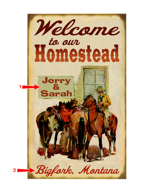 Welcome to Our Homestead Sign