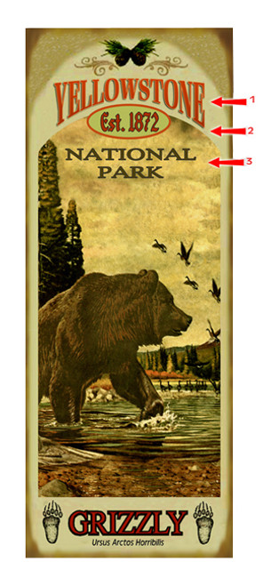 Yellowstone National Park with Bear Sign